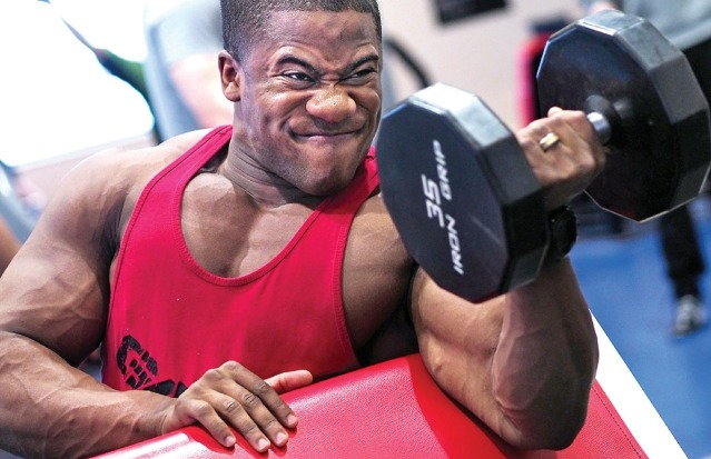 bodybuilder with higher metabolism because he has high muscle mass